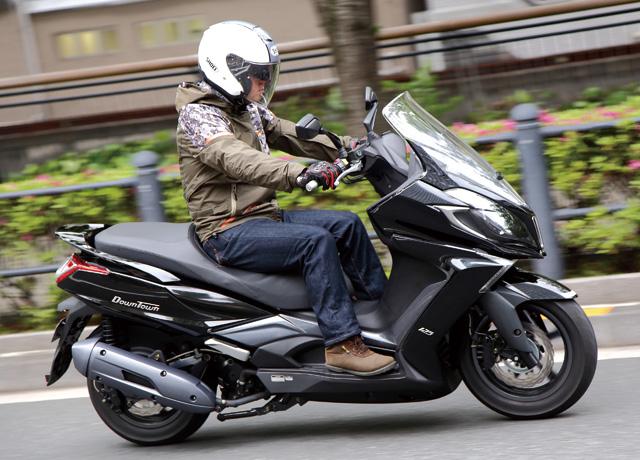 キムコ ダウンタウン125i 試乗レポート | 新車・中古バイク検索サイト GooBike.com